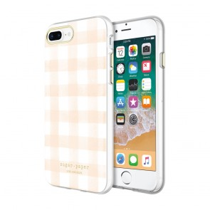Sugar Paper Printed Case for iPhone 8 Plus & iPhone 7 Plus  - Watercolor Plaid Blush/White