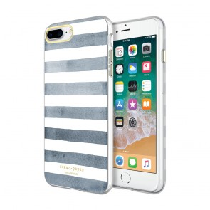 Sugar Paper Printed Case for iPhone 8 Plus & iPhone 7 Plus  - Watercolor Stripe Navy/White
