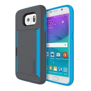 Incipio STOWAWAY for Samsung Galaxy S6 Flat - Charcoal/Neon Blue