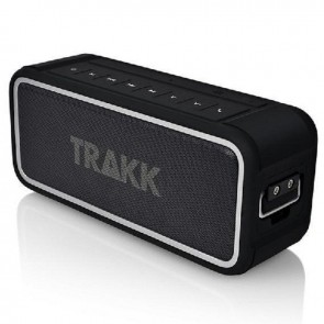 TRAKK GO WATERPROOF RUGGED 20W BLUETOOTH SPEAKER WITH POWER BANK - BLACK