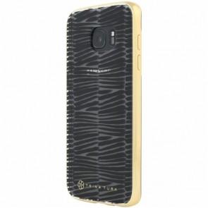 Trina Turk Translucent Case with Metallic Bumper (2-pc) for Samsung Galaxy S7 edge - Descano Black/Clear