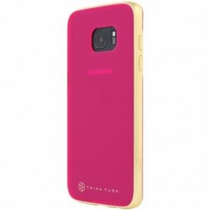 Trina Turk Translucent Case with Metallic Bumper (2-pc) for Samsung Galaxy S7 edge - Pink/Gold
