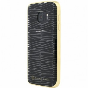 Trina Turk Translucent Case with Metallic Bumper (2-pc) for Samsung Galaxy S7 - Descano Black/Clear