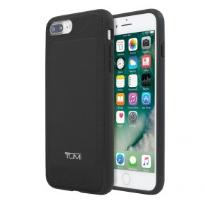 TUMI Leather Co-Mold Case for iPhone 8 Plus, iPhone 7 Plus & iPhone 6 Plus/6s Plus - Black Leather