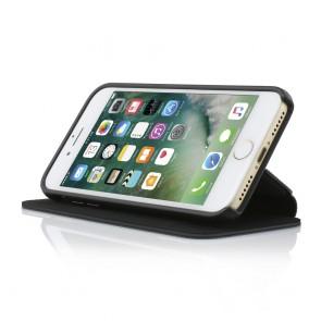 TUMI Leather Kickstand Folio for iPhone 8, iPhone 7 - Black Leather