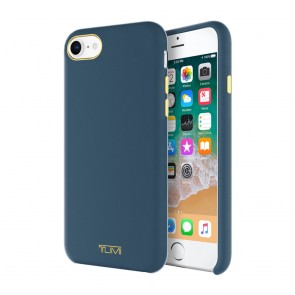 TUMI Leather Wrap Case for iPhone 8, iPhone 7 - Navy