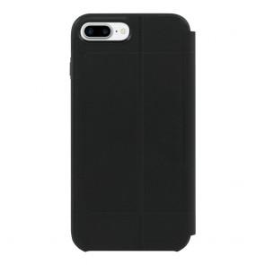 TUMI Leather Kickstand Folio for iPhone 8 Plus & iPhone 7 Plus - Black Leather