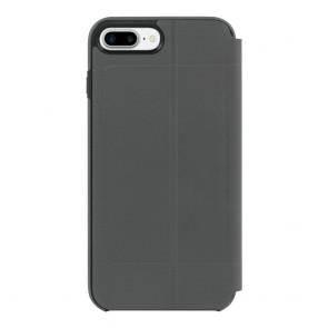 TUMI Leather Kickstand Folio for iPhone 8 Plus & iPhone 7 Plus - Grey Leather