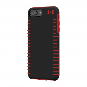 Under Armour UA Protect Grip Case for iPhone 8 Plus, iPhone 7 Plus & iPhone 6 Plus/6s Plus - Black/Red