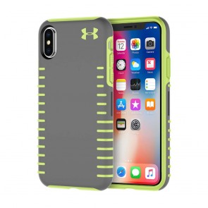 Under Armour UA Protect Grip Case for iPhone X - Graphite/Quirky Lime