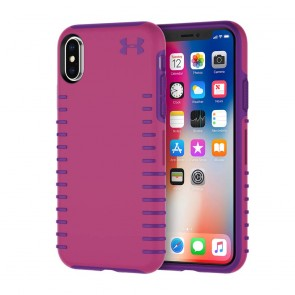 Under Armour UA Protect Grip Case for iPhone X - Tropic Pink/Purple Rave
