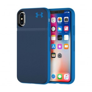 Under Armour UA Protect Stash Case for iPhone X - Midnight Navy/Mediterranean