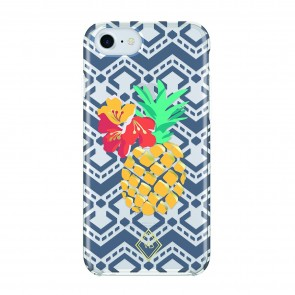 Vera Bradley Flexible Frame Case for iPhone 7 & iPhone 6/6s - Pineapple Embroidery Multi/Navy/Gold/Clear