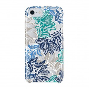 Vera Bradley Flexible Frame Case for iPhone 7 & iPhone 6/6s - Santiago Blue Multi/Silver/Clear