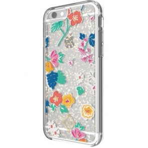Vera Bradley Glitter Flurry Case for iPhone 7 Plus - Santiago Floral Multi/Gold/Clear