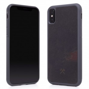 Woodcessories EcoCase - Stone Edition  Volcano Black for iPhone Xs Max