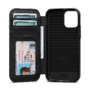Sena WalletBook iPhone 12 Pro Max Black