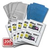 iKlear TS-100 Travel Singles, 200 Wet Wipes With Microfiber Polshing Cloths