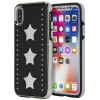 Rebecca Minkoff Luxury Calls Case for iPhone X - Leather Star Inlay Case Star Patch Silver/Black