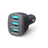 360 Electrical VividDrive7.2 3-Port 7.2A USB Car Charger
