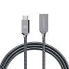 intelliARMOR MetaCable Lx 6-ft USB A to C Cable Metal Space Grey