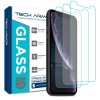 Tech Armor Ballistic Glass Screen Protector for iPhone XR - 3-pack