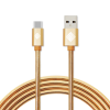 Qmadix - Full Metal Jacket Type A to Type C Cable 3.3ft - Gold