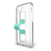 BodyGuardz SlideVue Case for iPhone XR - Clear/Mint