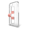 BodyGuardz SlideVue Case for iPhone XR- Clear/Pink