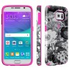 Speck Samsung Galaxy S6 CandyShell Inked Vintage Bouquet Grey/Shocking Pink