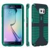 Speck Samsung Galaxy S6 Edge CandyShell Grip Charcoal Grey/Dragon Green