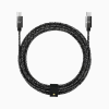 Candywirez 6FT Marbled Woven USB-C to USB-C Cable with Strap - Black / Grey