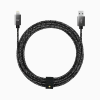 Candywirez 10FT Marbled Woven Lightnig Cable with Strap - Black Grey
