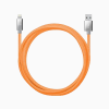Candywirez 10FT Marbled Woven Lightning Cable - Neon Orange