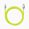 Candywirez 10FT Marbled Woven Lightning Cable - Neon Yellow