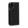 Sena Quilted Wallet Book Black iPhone X