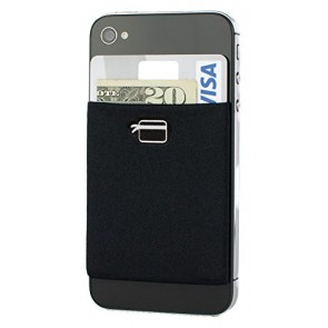 CardNinja Ultra-slim Self Adhesive Credit Card Wallet for Smartphones, Black