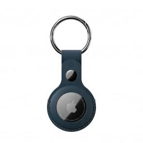 SwitchEasy AirTag Wrap Leather Keychain Midnight Blue