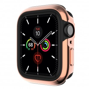 SwitchEasy Odyssey premium 2-in-1 metail + TPU bumper case for Apple Watch 6&SE&5&4 44mm Flash Rose Gold