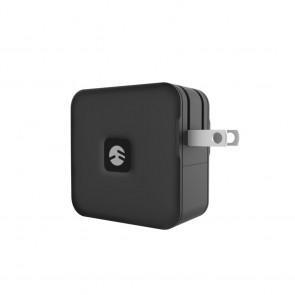 SwitchEasy PowerBuddy Pro GaN 65W Wall Charger 3-Port (2xUSB-C/USB-A) Black