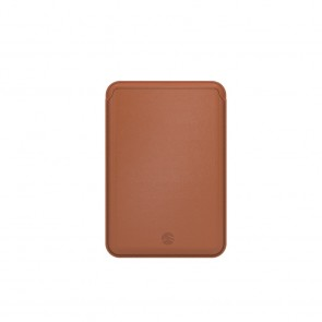 SwitchEasy Mag Wallet MagSafe Leather Card Holder Saddle Brown
