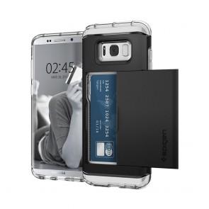 Spigen Samsung Galaxy S8 Crystal Wallet Black