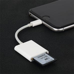 intelliARMOR Lighting to SD Card SD Card Reader - White