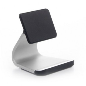 Bluelounge Milo Micro-Suction Stand (MO-AL-BL) for iPhone, iPod, & Most Smartphones - Mount - Retail Packaging - Silver/Black