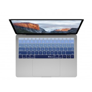 "KB Covers Deep Blues Keyboard Cover for MacBook 12"" Retina & MacBook Pro 13"" (Late 2016+) No Touch Bar"