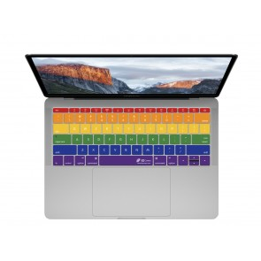 "KB Covers Rainbow Keyboard Cover for MacBook 12"" Retina & MacBook Pro 13"" (Late 2016+) No Touch Bar"