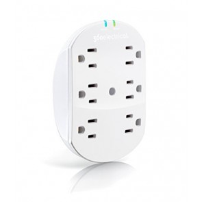 360 Electrical Loft 6 Outlet Surge Protector Wall Tap with Mounting Screw