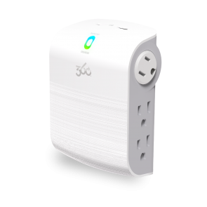 360 Electrical Sideline2.4 Revolve 6-Outlet (2 Rotating) Surge Tap w/ 2.4A 2-Port USB