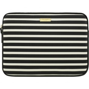 "kate spade new york Printed Laptop Sleeve for 13"" Macbook -Fairmont Square Black/Cream"