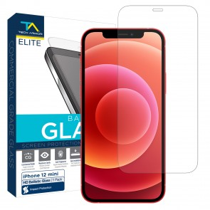 Tech Armor ELITE Ballistic Glass Screen Protector for Apple iPhone 12 Mini - [1-Pack]